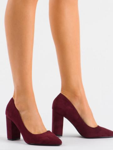 Pantofi cu toc cod 13A Wine Red