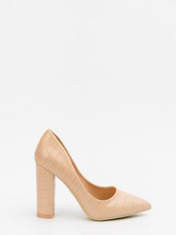 Pantofi cu toc cod 9182-2 Beige