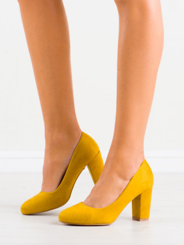 Pantofi cu toc cod DH01 Yellow