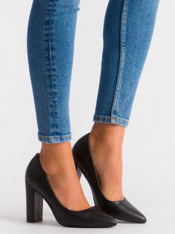 Pantofi cu toc cod OD0115 Black