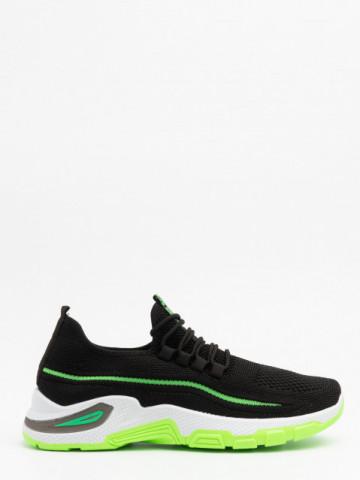 Pantofi sport cod 4228 Black/Green
