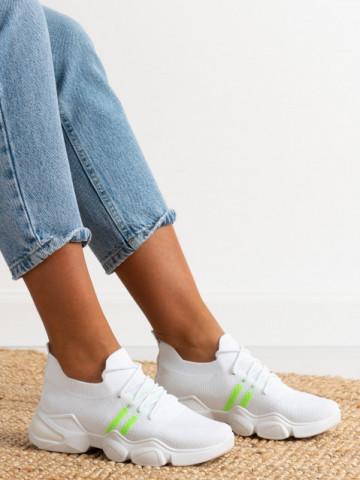 Pantofi sport cod 86002 White/Green