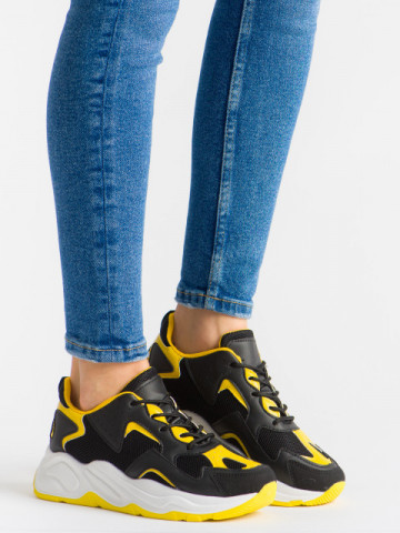 Pantofi sport cod ABC-307 Black/Yellow