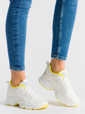 Pantofi sport cod ABC-316 White