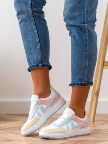 Pantofi sport cod AJ105 White/Blue
