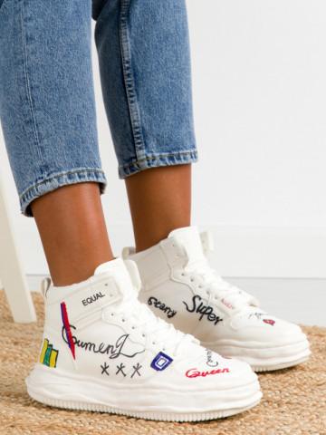 Pantofi sport cod B10 White