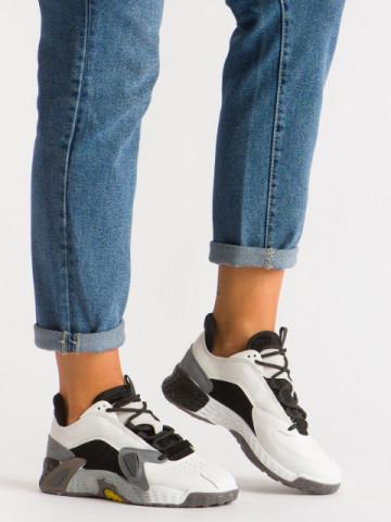 Pantofi sport cod B12-4 White/Grey