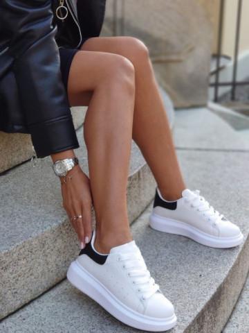 Pantofi sport cod D865 White/Black