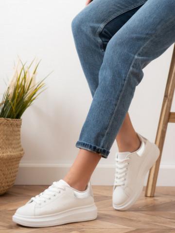Pantofi sport cod D865 White/Silver