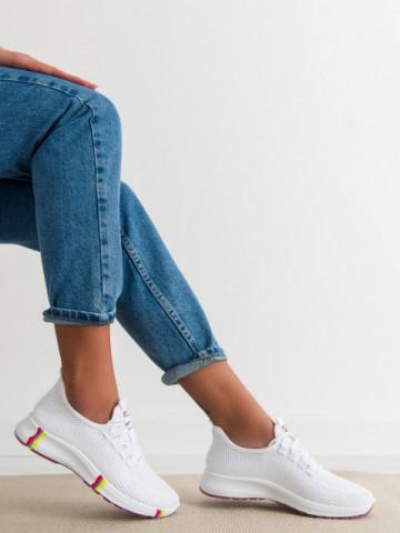 Pantofi sport cod H601-4 White