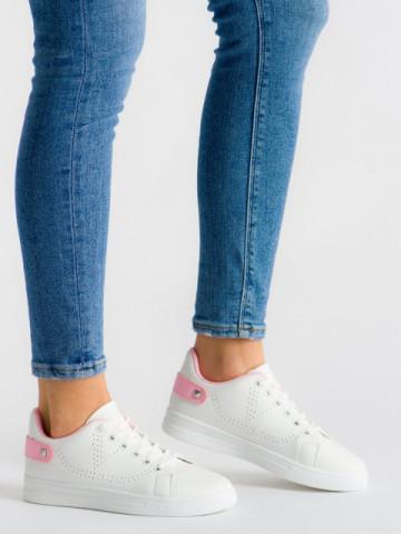 Pantofi sport cod J1827 Pink/White