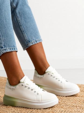 Pantofi sport cod J1858 White/Green