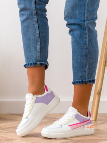 Pantofi sport cod K01 White/Purple