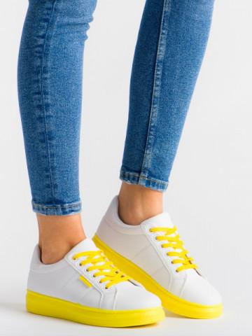 Pantofi sport cod YKQ191 White/Yellow