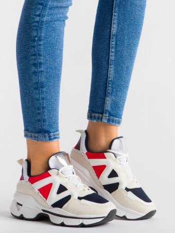 Pantofi sport cod YKQ212 White/Blue/Red