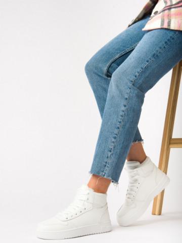 Pantofi sport imblaniti cod AJ30 White