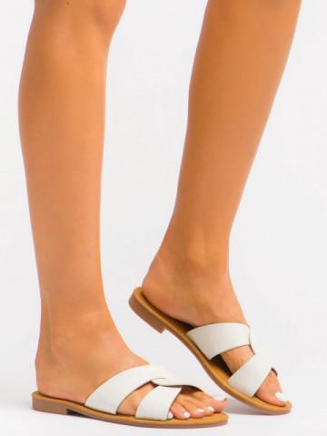 Papuci cod C1073 White