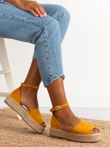 Sandale cod A21-27 Yellow