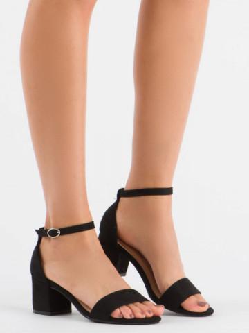Sandale cu toc cod 1-85XS Black