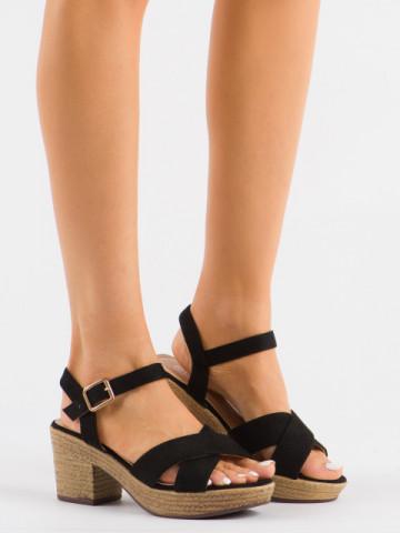 Sandale cu toc cod 1685-9Y Black