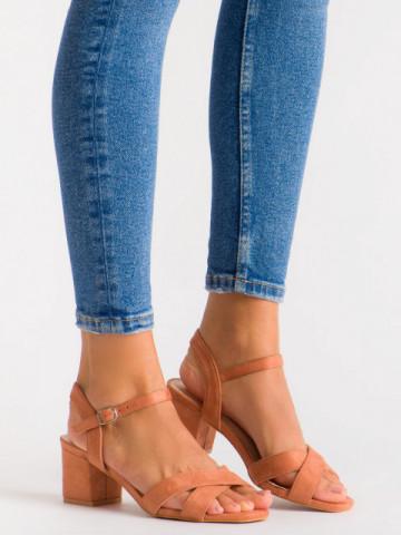 Sandale cu toc cod 3R47-27 Orange