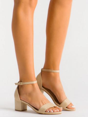 Sandale cu toc cod 60-121Y Apricot