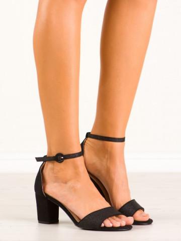 Sandale cu toc cod 9261-1 Black