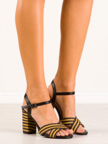 Sandale cu toc cod 9262-1 Black