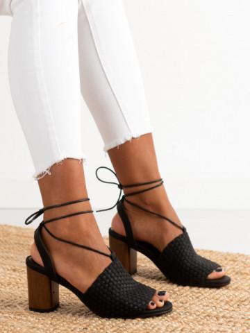Sandale cu toc cod 9497 Black