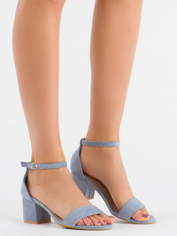 Sandale cu toc cod 99-36A Blue