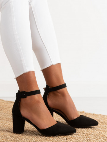 Sandale cu toc cod A55 Black