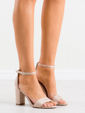 Sandale cu toc cod AF03 Beige