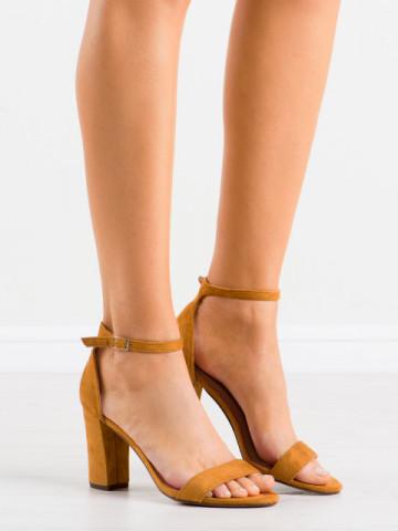 Sandale cu toc cod CD59 Camel