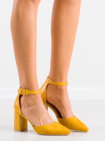 Sandale cu toc cod DH06 Yellow