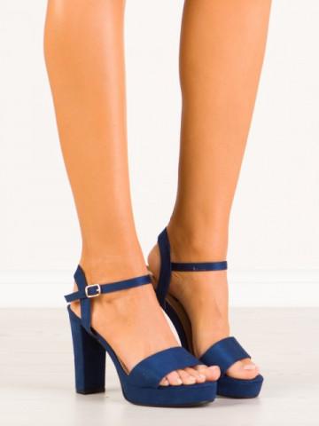 Sandale cu toc cod HJ101 Blue