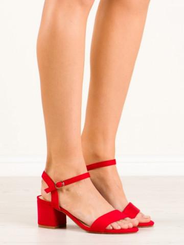 Sandale cu toc cod KJ-13 Red