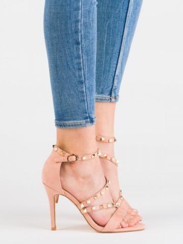 Sandale cu toc cod L6099 Pink