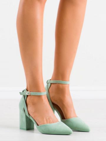 Sandale cu toc cod LE075 Green