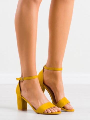 Sandale cu toc cod LL210 Yellow