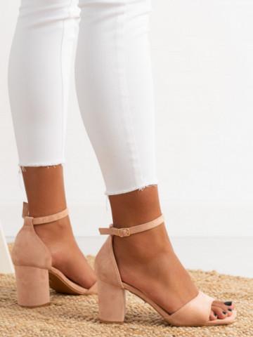 Sandale cu toc cod LL247 Pink