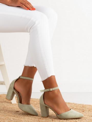 Sandale cu toc cod NC-1007 Green