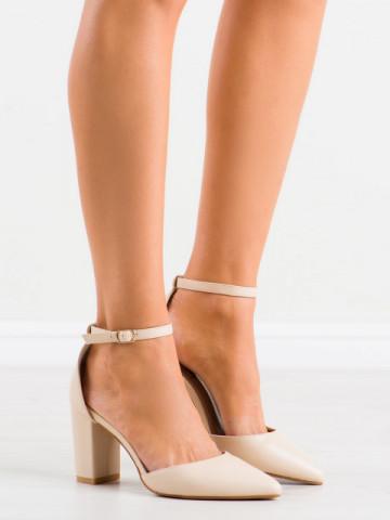 Sandale cu toc cod NC1010 Beige
