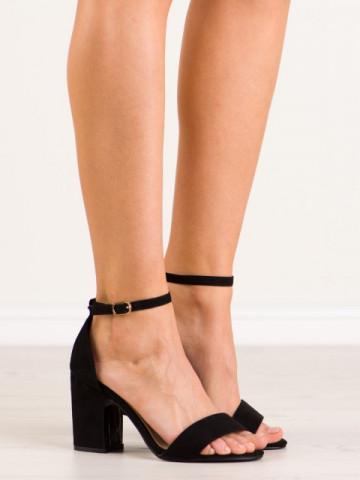 Sandale cu toc cod NS037 Black