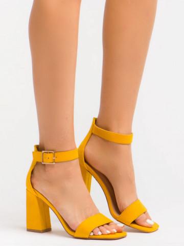Sandale cu toc cod OD0227 Yellow