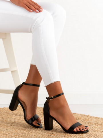 Sandale cu toc cod OD0350 Black