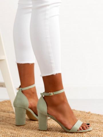Sandale cu toc cod OD0351 Green