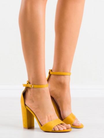 Sandale cu toc cod TU132 Yellow