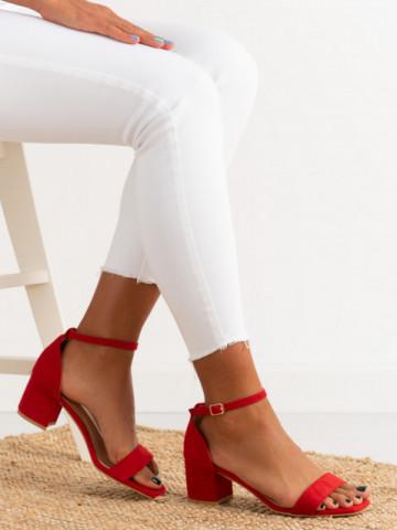 Sandale cu toc cod TU171 Red