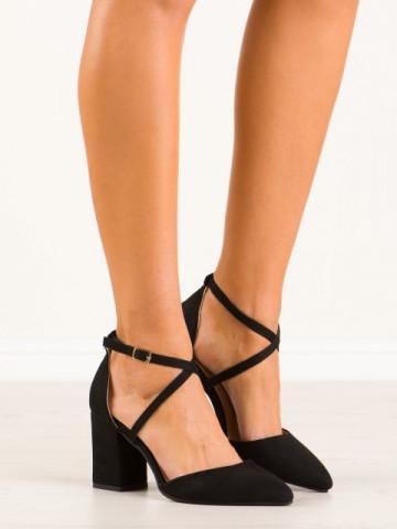 Sandale cu toc cod NC900 Black