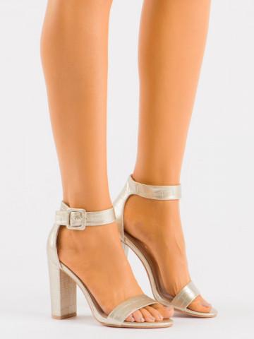 Sandale cu toc cod LU0027 Gold